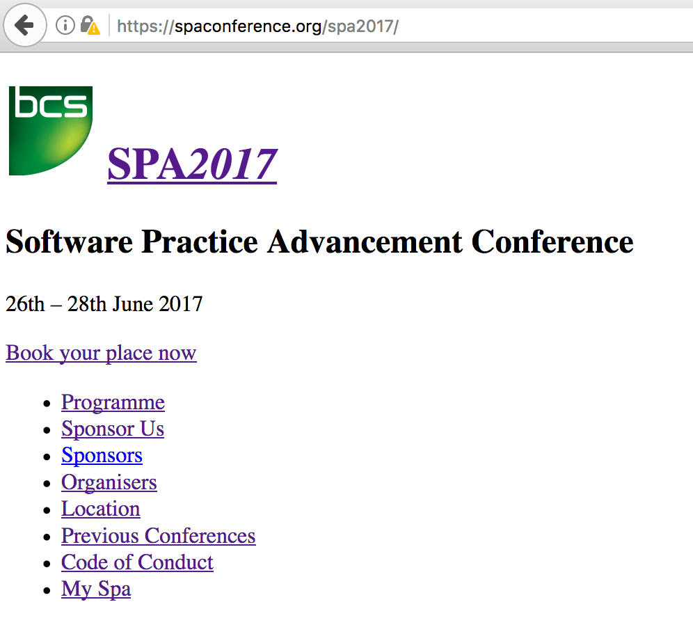 SPA homepage with no CSS